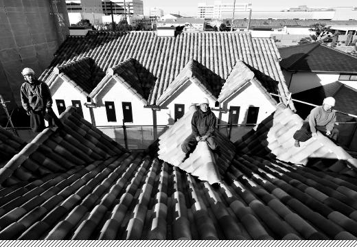 屋根瓦職人