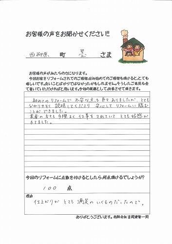 s-墨様 リフォームアンケート